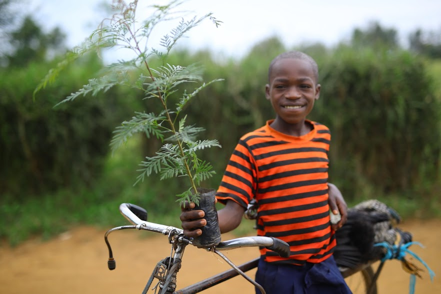 <p>Teaching children to grow trees is a key part of the restoration strategy in Karangazi.</p>