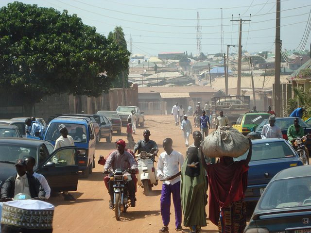 <p>Lagos is expected to at least double its land area by 2050. Photo credit by Heinrich-Böll-Stiftung/Flickr</p>