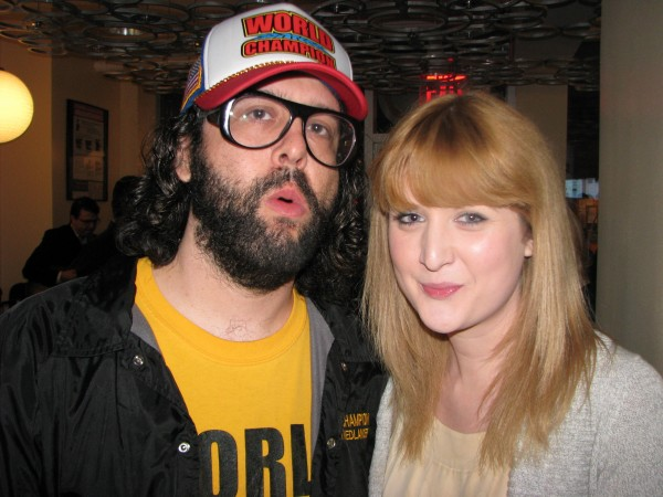 <p>WRI\'s Laura Pocknell with <em>30 Rock</em>\'s Judah Friedlander</p>