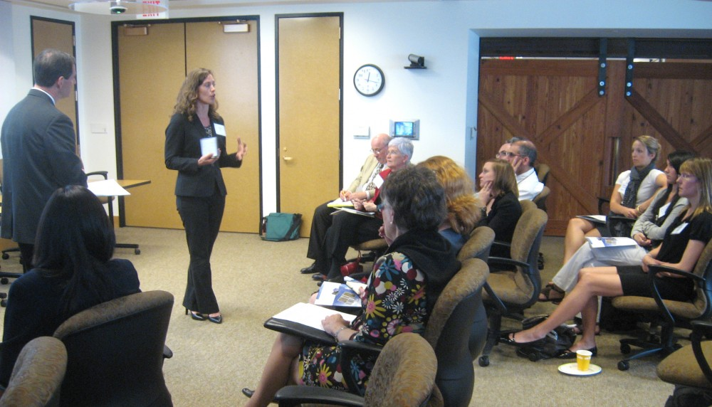 <p>Representatives from some of the 14 road testing companies discussed their experiences with the Guide at Tuesday\'s event. Photo credit: Kathy Doucette, WRI</p>