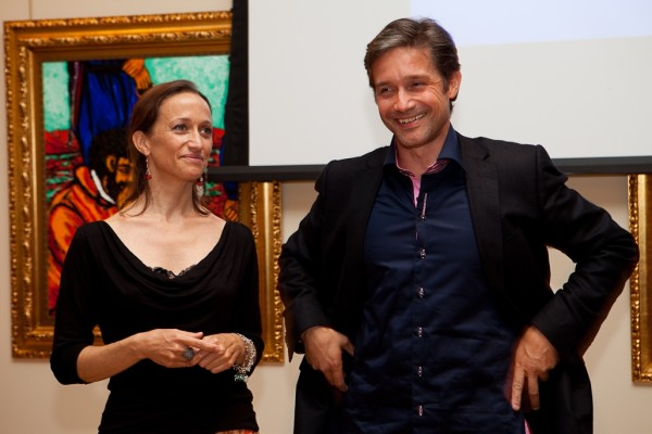 <p>Céline Cousteau and her brother Fabien Cousteau. Photo credit: Sara Stathas.</p>