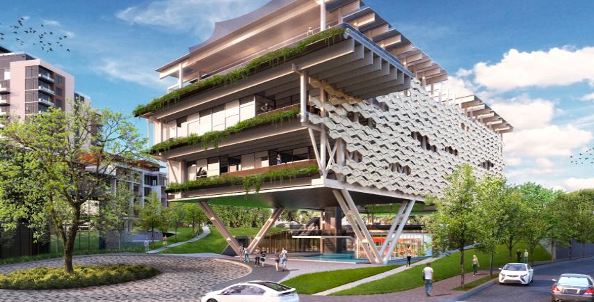 <p>OUM Wellness Center in Monterrey, Mexico is looking to achieve Zero Energy Certification. Rendering by Consorcio Edificios Cero Energía + Capital Natural</p>