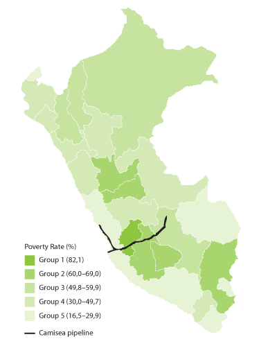 <p>Peru: Camisea Pipeline Path and Poverty</p>