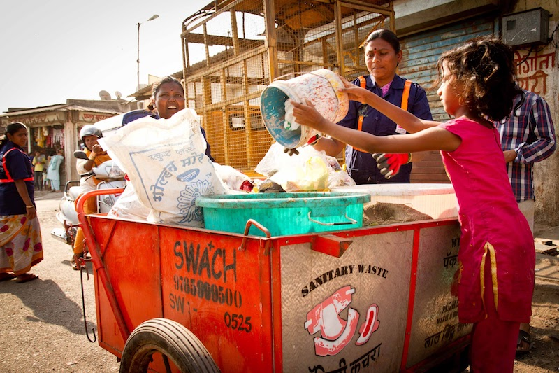 "<p>Most of SWaCH's more than 3,000 members are women and Dalits (formerly known as ""untouchables""), who have gone from outcasts to valuable service providers. Photo by Brodie Lewis/SWaCH Pune Seva Sahakari Sanstha</p>"