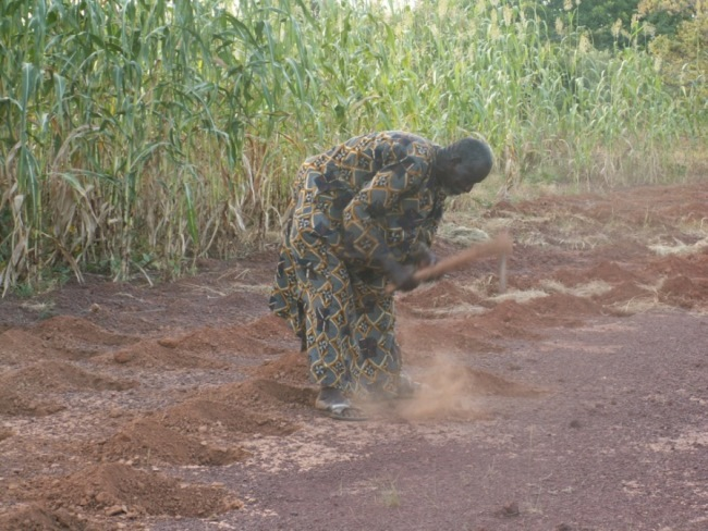 <p>Yacouba Sawadogo digs planting pits in Burkina Faso. Photo credit: Chris Reij, WRI</p>