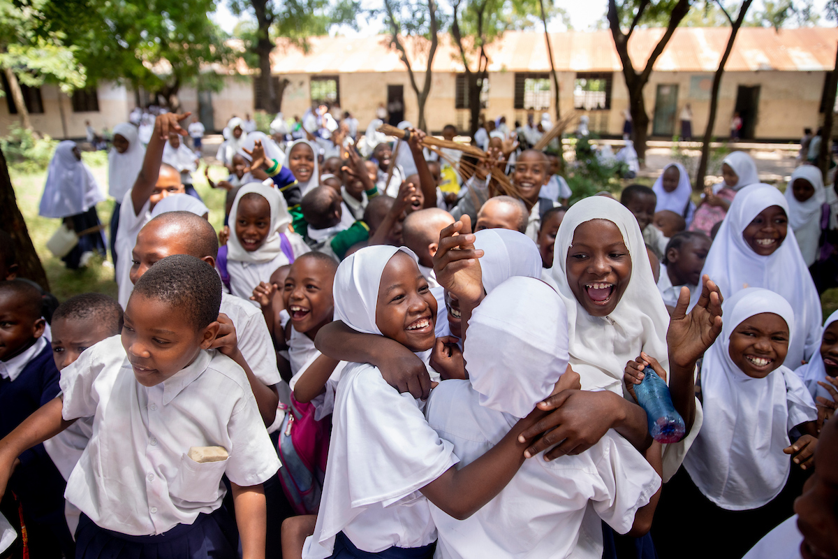 <p>Students in Dar es Salaam, Tanzania. Photo by Kyle Laferriere</p>