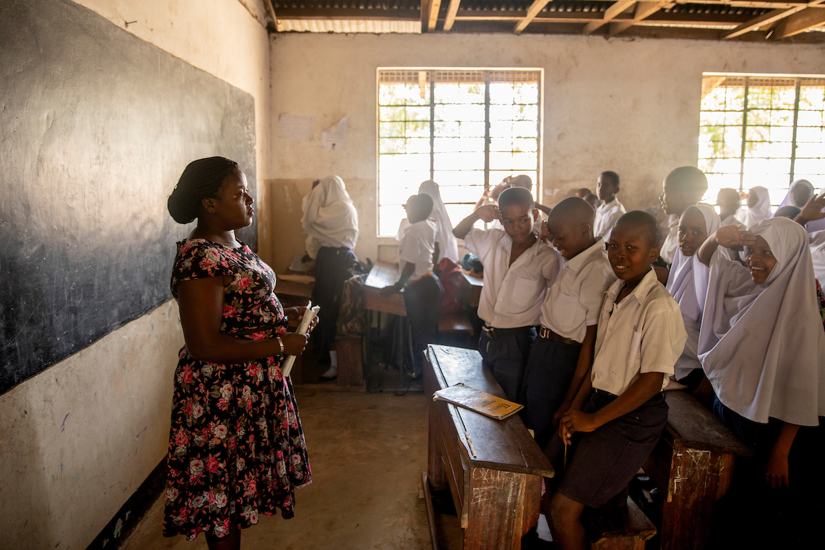 <p>Mikumi Primary School, one of several in Dar es Salaam that worked with the SARSAI program to improve student safety. Photo by Kyle Laferriere</p>