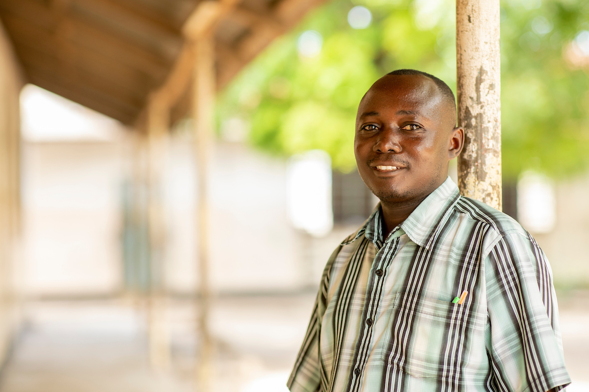 <p>Didace Kamugisha, a parent and PTA secretary at Mikumi Primary School. Photo by Kyle Laferriere</p>