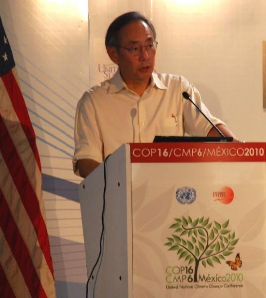 <p>Secretary Chu, COP-16, Cancun, Mexico, Dec 6, 2010. Photo credit: Michael Oko.</p>