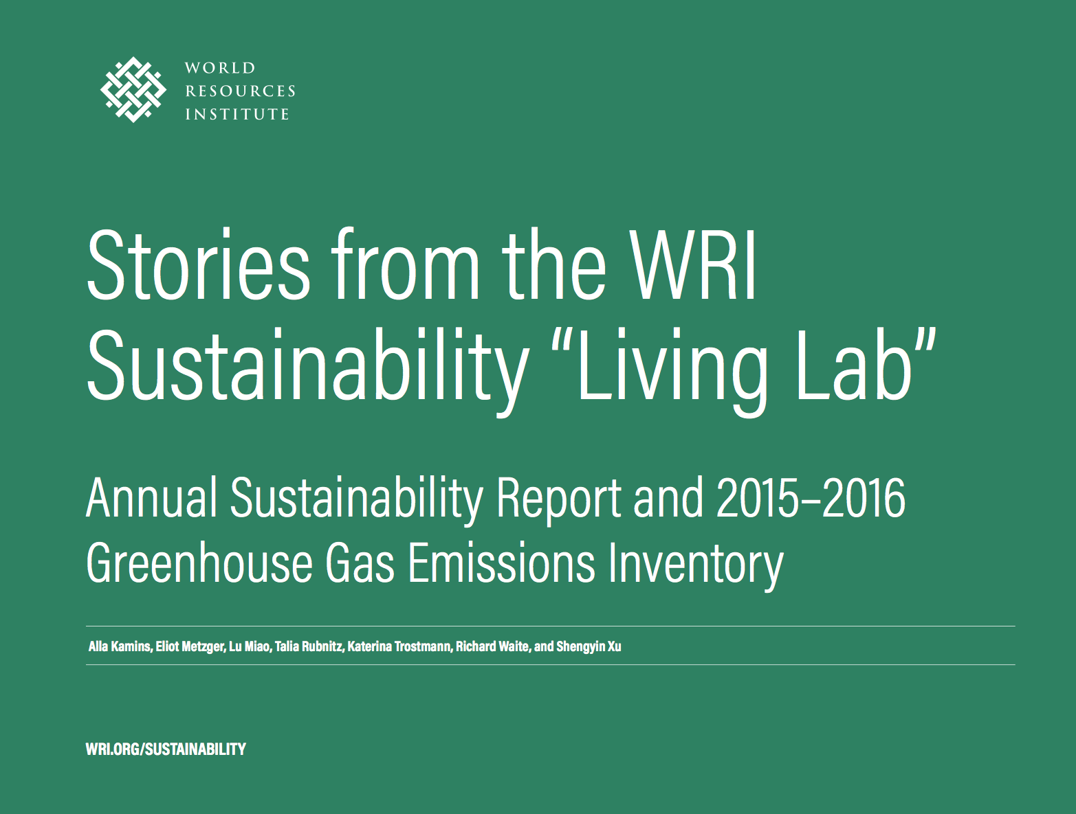 Stories from the WRI Sustainability Living Lab