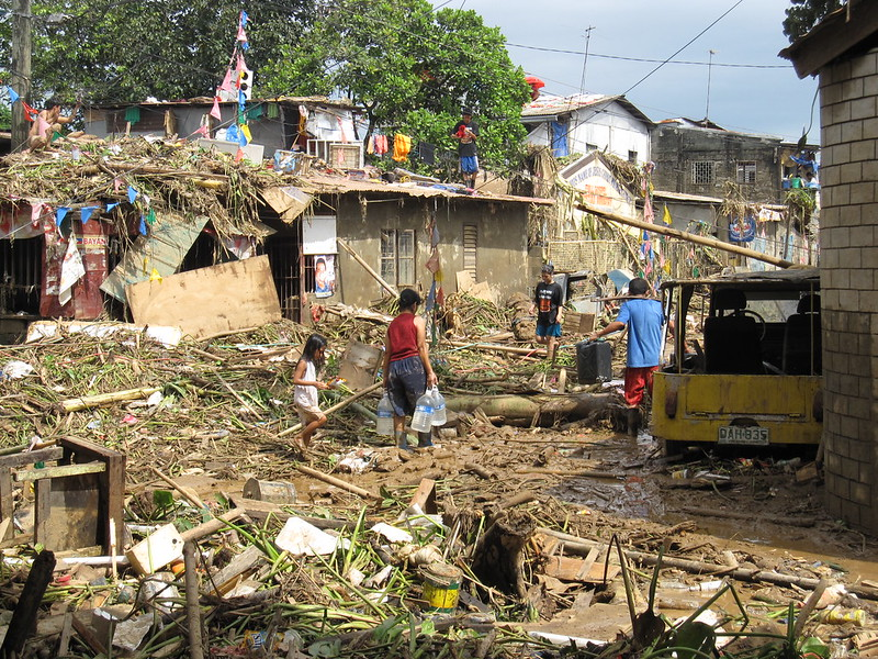 <p>The aftermath of Typhoon Ondoy. Photo by AusAID/Flickr</p>