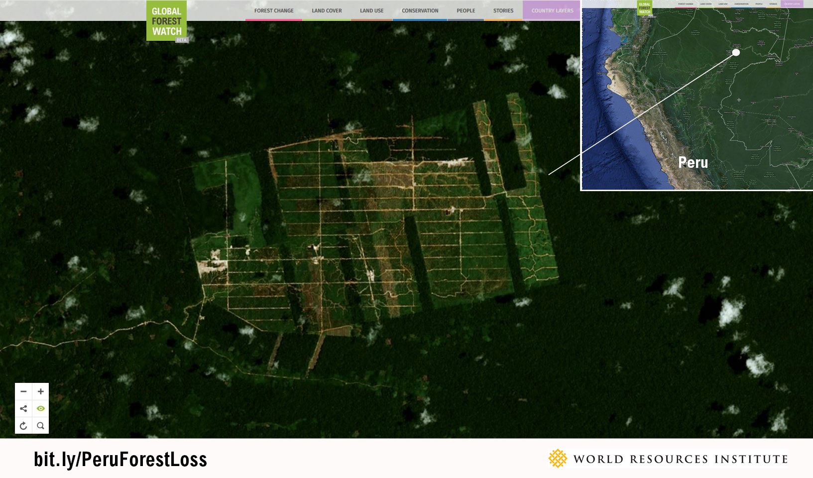 <p>The United Cacao plantation near Iquitos, Peru, as seen by Urthecast satellite imagery.</p>