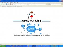 <p>PureWaterForKids.org (screen shot May/2004)</p>
