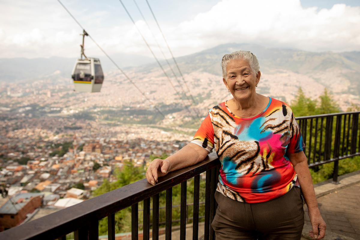 <p>Rosalba Restrepo, president of Medellin's Community Neighborhood Committee. Photo by Kyle Laferriere</p>