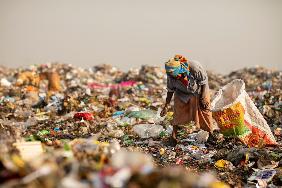 <p>Prior to SWaCH, waste pickers gathered in landfills to scrounge for recyclables. Photo by Kyle Laferriere</p>