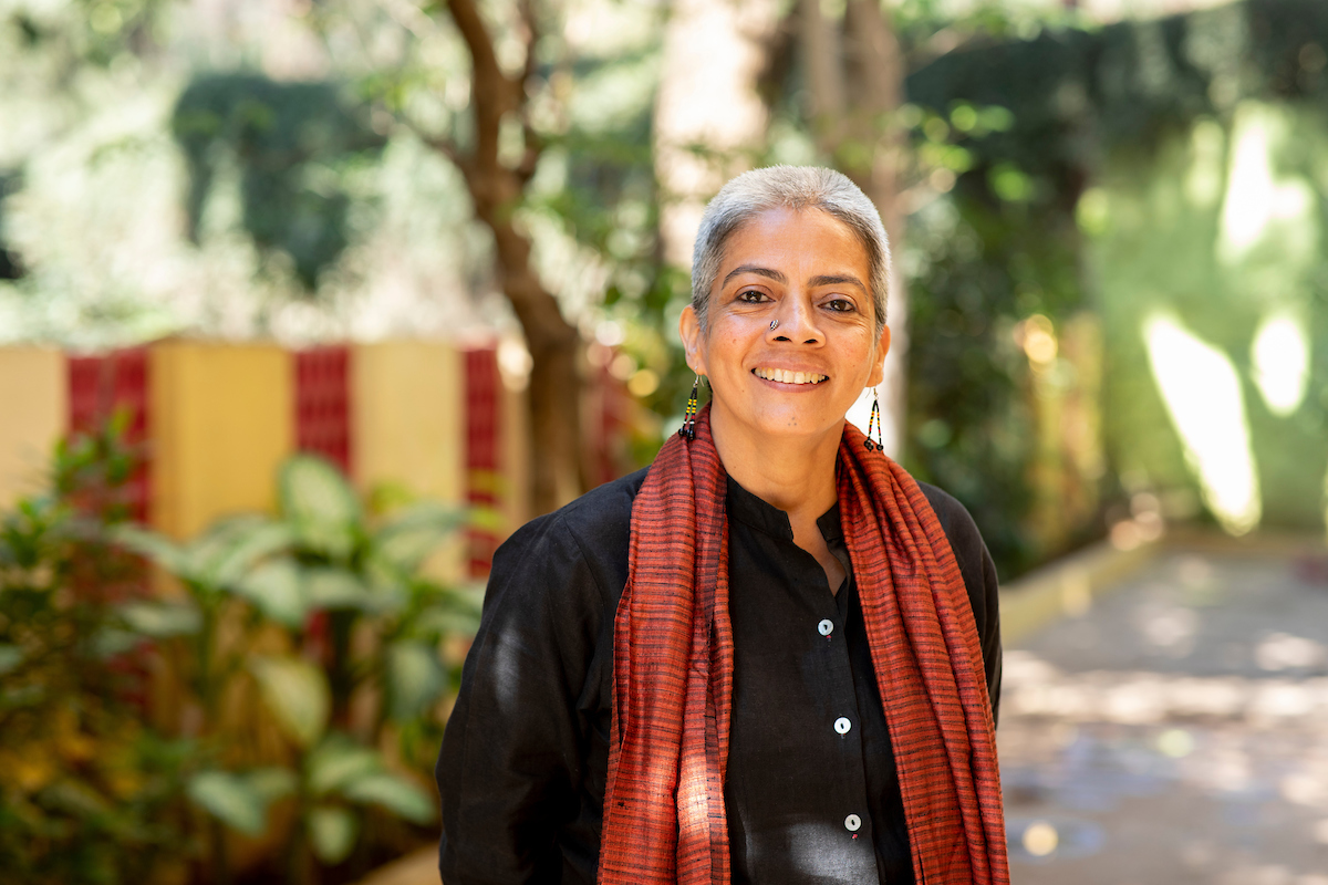 <p>Lakshmi Narayan, SWaCH's co-founder. Photo by Kyle Laferriere</p>