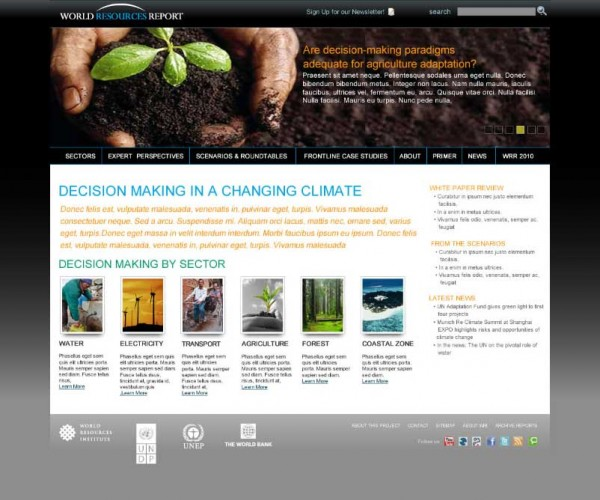 <p>Visit the World Resources Report website for more information on decision-making in a changing climate.</p>